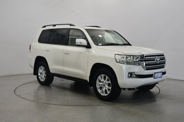 Used Toyota Landcruiser VDJ200R VX, 2017 Toyota Landcruiser VDJ200R VX Crystal Pearl 6 Speed Sports Automatic Wagon