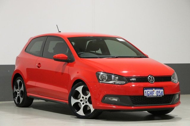 Used Volkswagen Polo 6R MY13 GTi, 2013 Volkswagen Polo 6R MY13 GTi Red 7 Speed Auto Direct Shift Hatchback