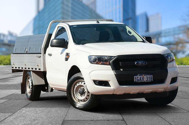 Used Ford Ranger PX MkII XL 4x2, 2015 Ford Ranger PX MkII XL 4x2 White 6 Speed Manual Cab Chassis
