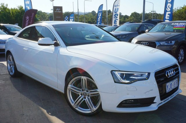 Used Audi A5 8T MY14 S Tronic Quattro, 2014 Audi A5 8T MY14 S Tronic Quattro White 7 Speed Sports Automatic Dual Clutch Coupe