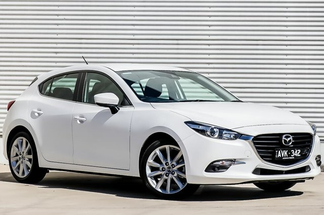 Demo Mazda 3 BN5438 SP25 SKYACTIV-Drive, 2018 Mazda 3 BN5438 SP25 SKYACTIV-Drive Snowflake White Pearl 6 Speed Sports Automatic Hatchback