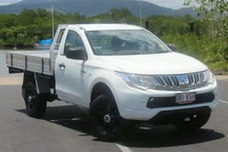 2015 Mitsubishi Triton MQ MY16 GLX 4x2 White 6 Speed Manual Cab Chassis.