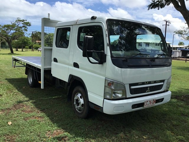 Used Mitsubishi Fuso Canter FE MY08 FE84D 3.5 MWB, 2009 Mitsubishi Fuso Canter FE MY08 FE84D 3.5 MWB White Crew Cab Chassis 4.9l 4x2