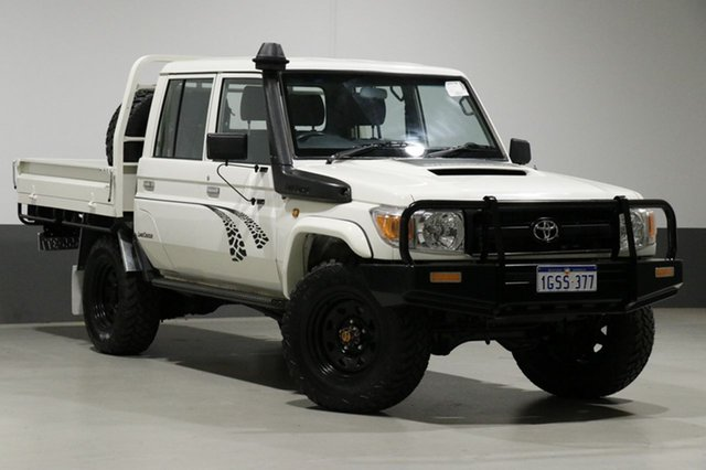 Used Toyota Landcruiser VDJ79R MY12 Update Workmate (4x4), 2013 Toyota Landcruiser VDJ79R MY12 Update Workmate (4x4) White 5 Speed Manual Double Cab Chassis