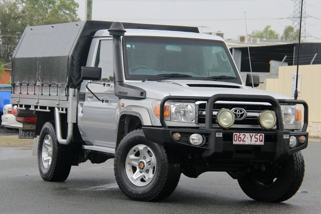 Used Toyota Landcruiser VDJ79R MY13 GXL, 2013 Toyota Landcruiser VDJ79R MY13 GXL Silver 5 Speed Manual Cab Chassis