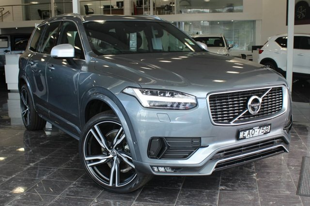 Used Volvo XC90 256 MY19 D5 R-Design (AWD), 2018 Volvo XC90 256 MY19 D5 R-Design (AWD) Osmium Grey 8 Speed Automatic Geartronic Wagon