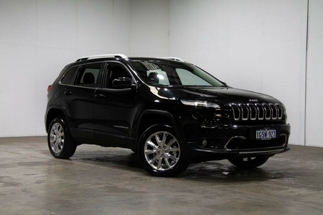Used Jeep Cherokee KL MY15 Limited, 2015 Jeep Cherokee KL MY15 Limited Black 9 Speed Sports Automatic Wagon