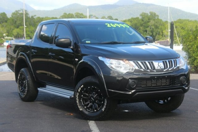 Used Mitsubishi Triton MQ MY16 GLX Double Cab, 2015 Mitsubishi Triton MQ MY16 GLX Double Cab Black 5 Speed Sports Automatic Utility