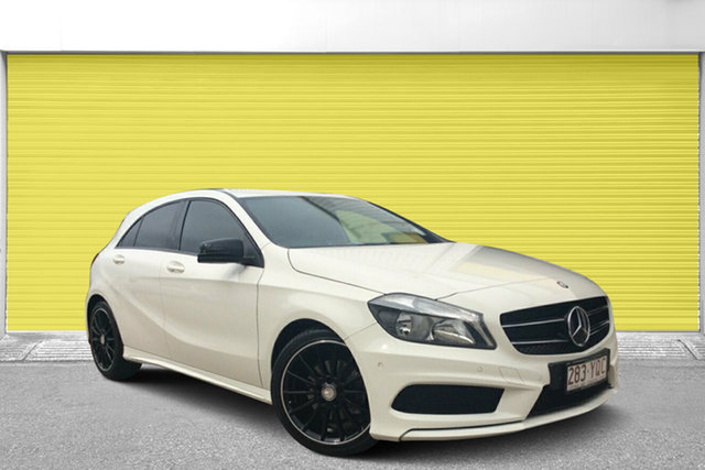 Used Mercedes-Benz A200 W176 805+055MY D-CT, 2014 Mercedes-Benz A200 W176 805+055MY D-CT White 7 Speed Sports Automatic Dual Clutch Hatchback