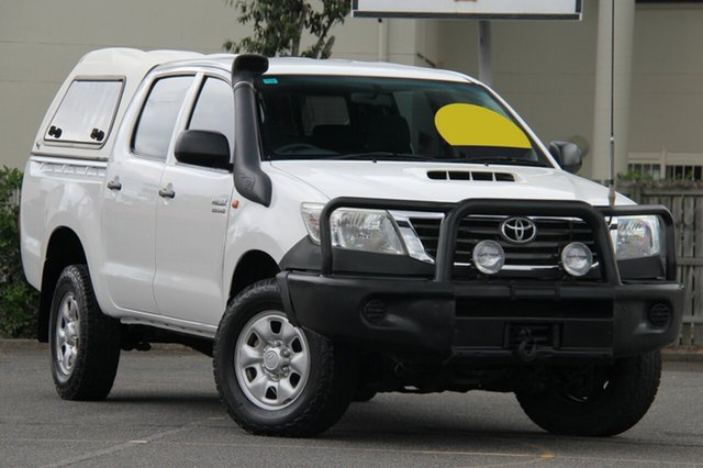Used Toyota Hilux KUN26R MY12 SR Double Cab, 2012 Toyota Hilux KUN26R MY12 SR Double Cab White 4 Speed Automatic Utility