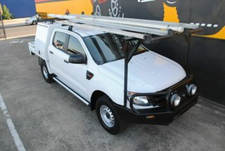 2013 Ford Ranger PX XL Double Cab Cool White 6 Speed Manual Cab Chassis