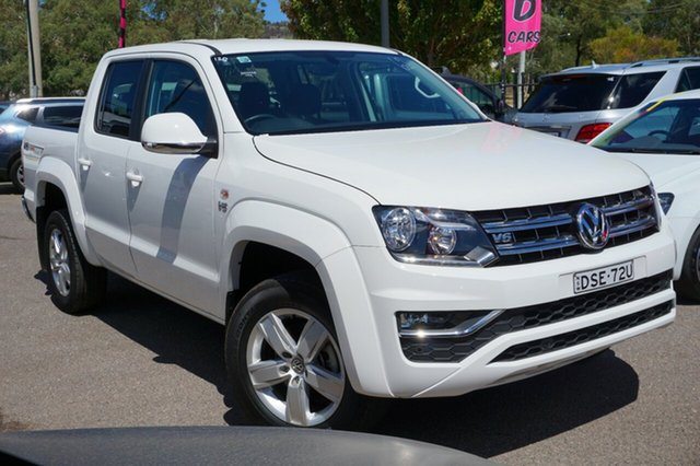 Used Volkswagen Amarok 2H MY17.5 TDI550 4MOTION Perm Sportline, 2017 Volkswagen Amarok 2H MY17.5 TDI550 4MOTION Perm Sportline White 8 Speed Automatic Utility