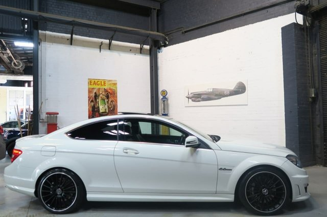 Used Mercedes-Benz C63 C204 MY12 AMG SPEEDSHIFT MCT, 2012 Mercedes-Benz C63 C204 MY12 AMG SPEEDSHIFT MCT White 7 Speed Sports Automatic Coupe