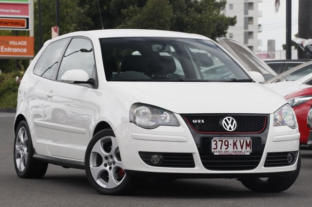 Used Volkswagen Polo 9N MY2008 GTi, 2007 Volkswagen Polo 9N MY2008 GTi Candy White 5 Speed Manual Hatchback