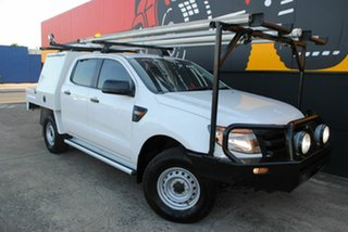 2013 Ford Ranger PX XL Double Cab Cool White 6 Speed Manual Cab Chassis.