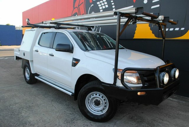 Used Ford Ranger PX XL Double Cab, 2013 Ford Ranger PX XL Double Cab Cool White 6 Speed Manual Cab Chassis