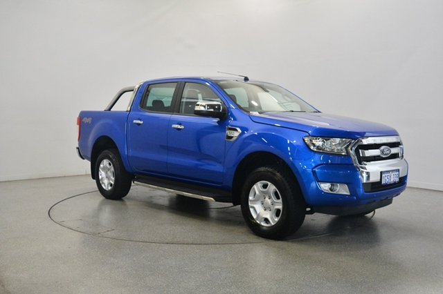 Used Ford Ranger PX MkII 2018.00MY XLT Double Cab, 2018 Ford Ranger PX MkII 2018.00MY XLT Double Cab Blue 6 Speed Sports Automatic Utility