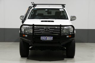 2015 Toyota Hilux KUN26R MY14 SR5 (4x4) White 5 Speed Automatic Dual Cab Pick-up.