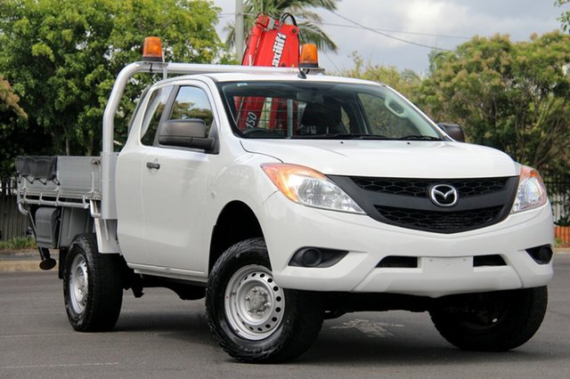 Used Mazda BT-50 UP0YF1 XT Freestyle, 2012 Mazda BT-50 UP0YF1 XT Freestyle White 6 Speed Manual Cab Chassis