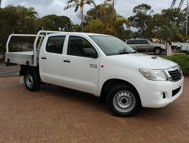 Used Toyota Hilux KUN16R MY12 SR Double Cab 4x2, 2012 Toyota Hilux KUN16R MY12 SR Double Cab 4x2 White 5 Speed Manual Utility