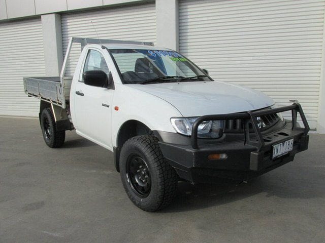Used Mitsubishi Triton ML MY09 GL 4x2, 2008 Mitsubishi Triton ML MY09 GL 4x2 White 5 Speed Manual Cab Chassis