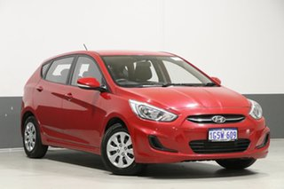 2017 Hyundai Accent RB4 MY17 Active Veloster Red 6 Speed CVT Auto Sequential Hatchback.