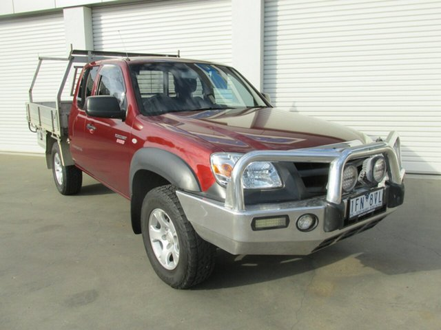 Used Mazda BT-50 UNY0E4 DX+ Freestyle 4x2, 2009 Mazda BT-50 UNY0E4 DX+ Freestyle 4x2 Copper Red 5 Speed Manual Cab Chassis