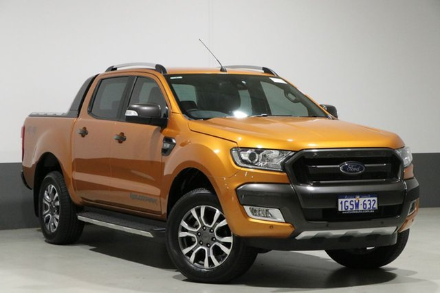 Used Ford Ranger PX MkII MY17 Update Wildtrak 3.2 (4x4), 2017 Ford Ranger PX MkII MY17 Update Wildtrak 3.2 (4x4) Orange 6 Speed Automatic Dual Cab Pick-up