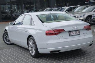 2014 Audi A8 4H MY15 Tiptronic Quattro White 8 Speed Sports Automatic Sedan.