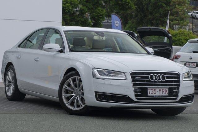 Used Audi A8 4H MY15 Tiptronic Quattro, 2014 Audi A8 4H MY15 Tiptronic Quattro White 8 Speed Sports Automatic Sedan