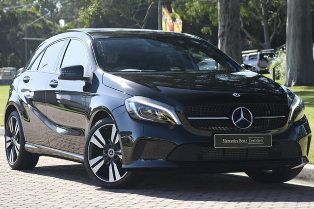 Used Mercedes-Benz A180 W176 808MY D-CT, 2017 Mercedes-Benz A180 W176 808MY D-CT Black 7 Speed Sports Automatic Dual Clutch Hatchback