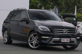 2013 Mercedes-Benz ML350 W166 BlueTEC 7G-Tronic + Black 7 Speed Sports Automatic Wagon.