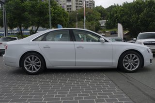 2014 Audi A8 4H MY15 Tiptronic Quattro White 8 Speed Sports Automatic Sedan.