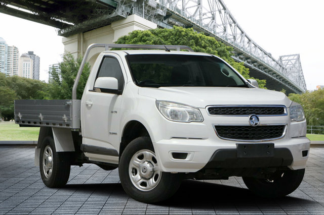 Used Holden Colorado RG MY14 LX 4x2, 2014 Holden Colorado RG MY14 LX 4x2 White 6 Speed Sports Automatic Cab Chassis