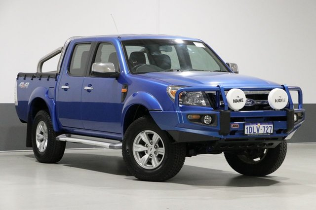 Used Ford Ranger PK XLT (4x4), 2010 Ford Ranger PK XLT (4x4) Blue 5 Speed Manual Dual Cab Pick-up
