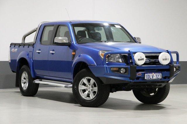 Used Ford Ranger PK XLT (4x4), 2010 Ford Ranger PK XLT (4x4) Blue 5 Speed Manual Dual Cab Pick-up
