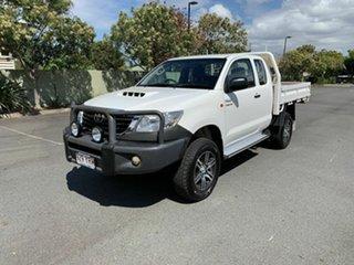 2013 Toyota Hilux KUN26R SR White 5 Speed Manual Extracab.