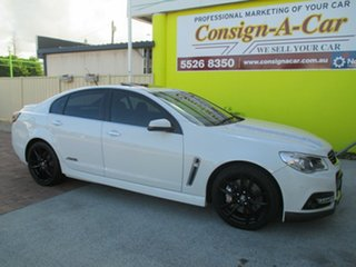 2013 Holden Commodore VF MY14 SS V Redline White 6 Speed Manual Sedan.