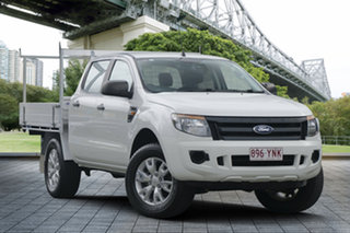2015 Ford Ranger PX XL Double Cab White 6 Speed Sports Automatic Cab Chassis.