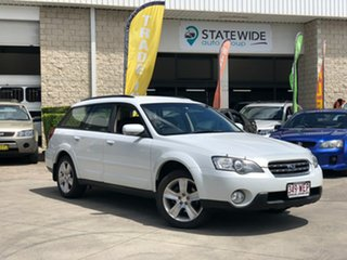 2005 Subaru Outback B4A MY06 Premium Pack D/Range AWD White 5 Speed Manual Wagon.