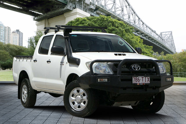 Used Toyota Hilux KUN26R MY10 SR, 2009 Toyota Hilux KUN26R MY10 SR White 5 Speed Manual Cab Chassis