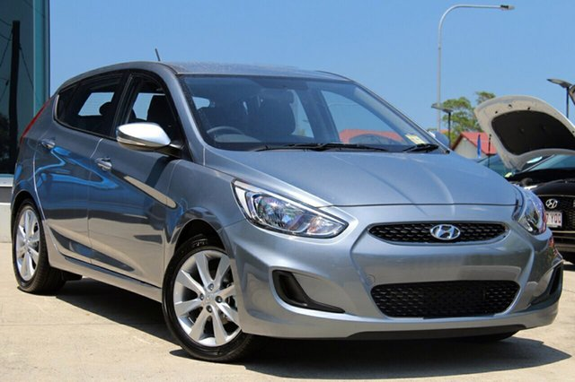 New Hyundai Accent RB6 MY18 Sport, 2019 Hyundai Accent RB6 MY18 Sport Lake Silver 6 Speed Manual Hatchback