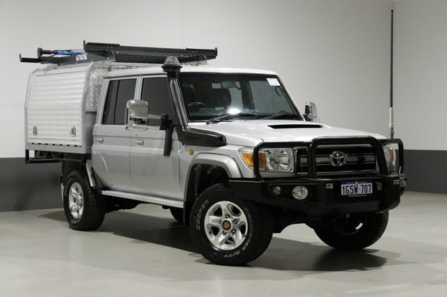 Used Toyota Landcruiser VDJ79R MY12 Update GXL (4x4), 2013 Toyota Landcruiser VDJ79R MY12 Update GXL (4x4) Silver 5 Speed Manual Double Cab Chassis