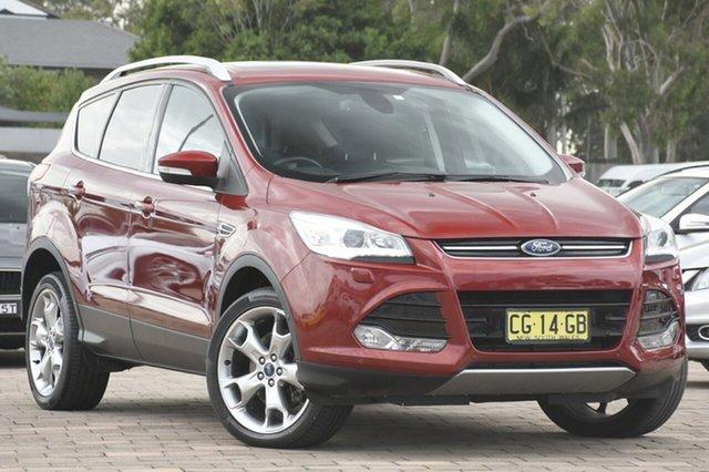 Used Ford Kuga TF MY15 Titanium AWD, 2015 Ford Kuga TF MY15 Titanium AWD Ruby Red 6 Speed Sports Automatic SUV