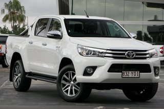 2015 Toyota Hilux GUN126R SR5 Double Cab White 6 Speed Sports Automatic Utility