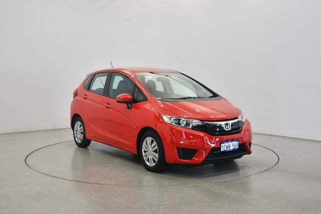 Used Honda Jazz GF MY15 VTi, 2015 Honda Jazz GF MY15 VTi Red 1 Speed Constant Variable Hatchback