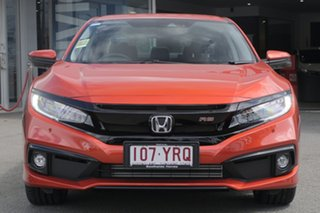 2019 Honda Civic 10th Gen MY18 RS Phoenix Orange 1 Speed Constant Variable Hatchback