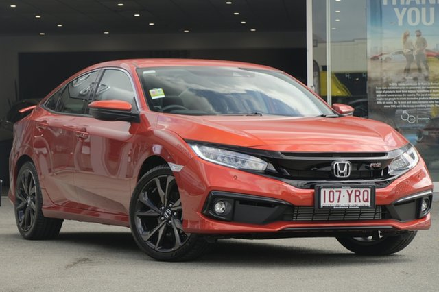 Demo Honda Civic 10th Gen MY18 RS, 2019 Honda Civic 10th Gen MY18 RS Phoenix Orange 1 Speed Constant Variable Hatchback