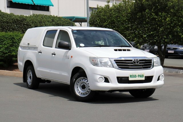 Used Toyota Hilux KUN16R MY14 SR Double Cab 4x2, 2013 Toyota Hilux KUN16R MY14 SR Double Cab 4x2 Glacier 5 Speed Manual Utility