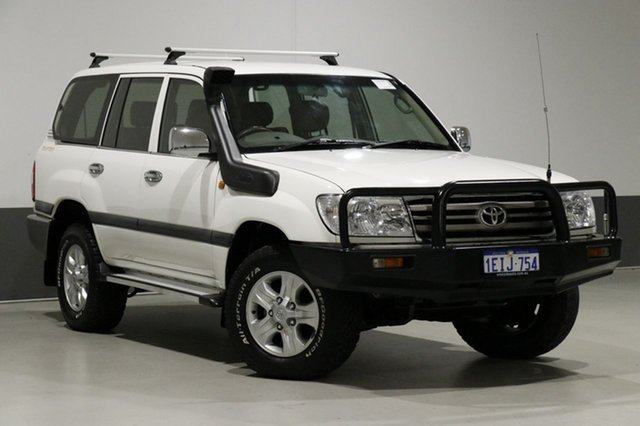 Used Toyota Landcruiser HDJ100R Upgrade II GXL (4x4), 2006 Toyota Landcruiser HDJ100R Upgrade II GXL (4x4) White 5 Speed Automatic Wagon